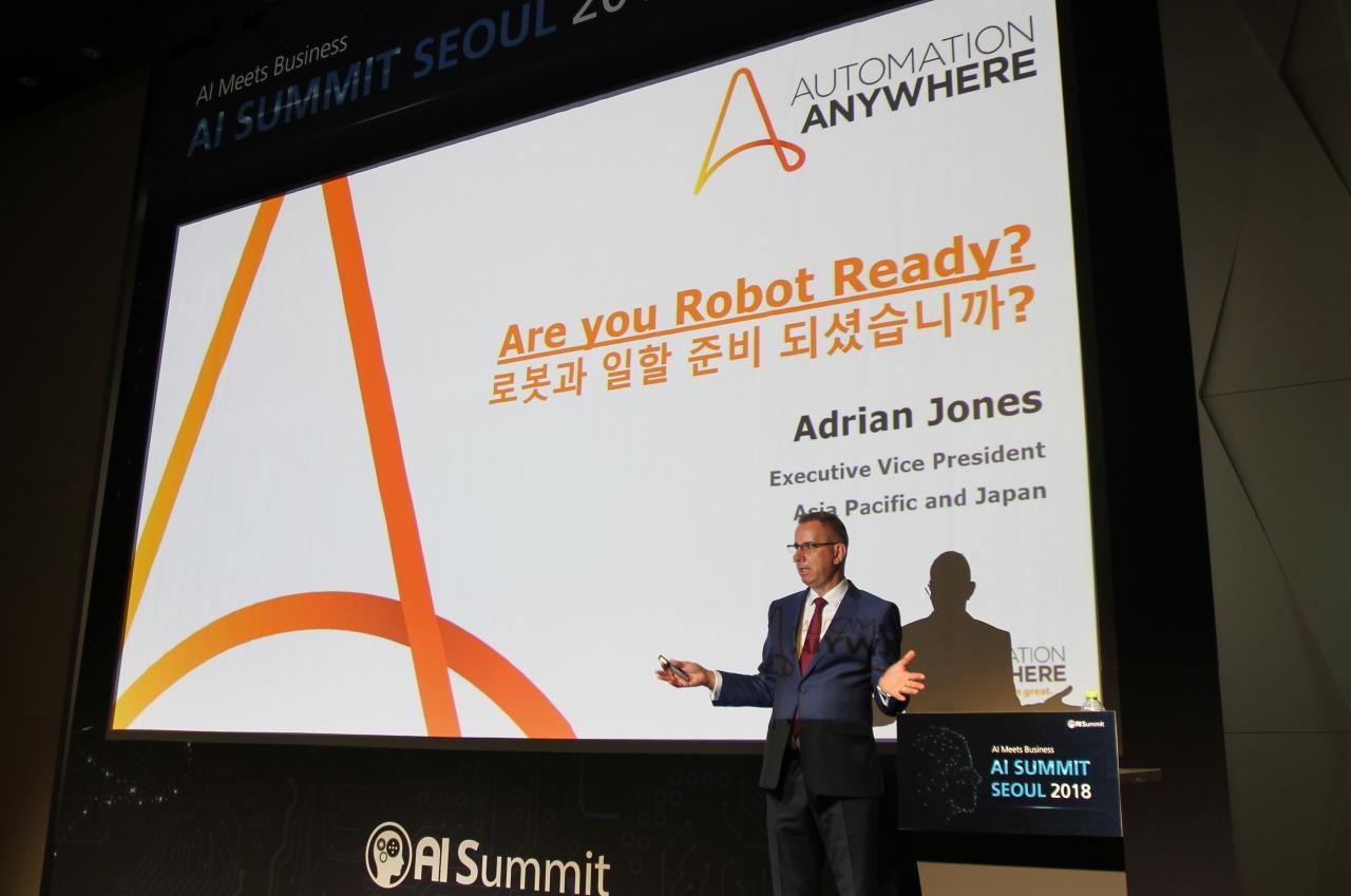 오토메이션 애니웨어(Automation Anywhere) CEO인 아드리안 존스(Adrian Jonse)