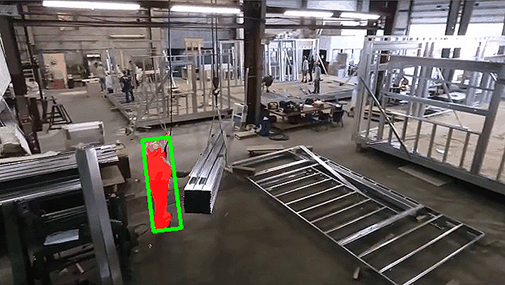 스마트팩토리에 적용된 작업자 AI 위험 감지시스템 시연 화면
